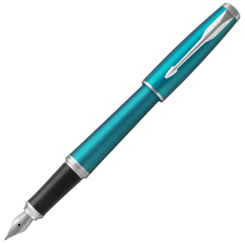 Parker Urban Vibrant Blue Chrome Trim Fountain Pen