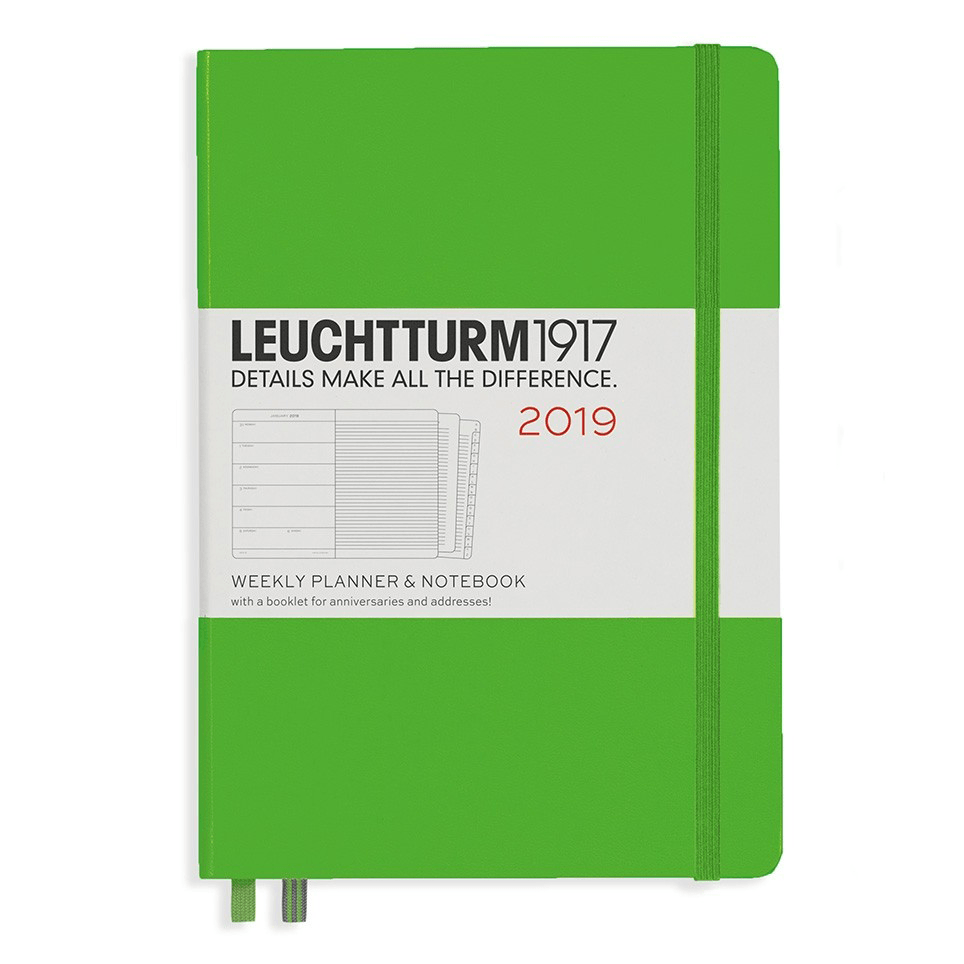 Leuchtturm Fresh Green A5 Weekly Planner & Notebook Hardcover – 2019