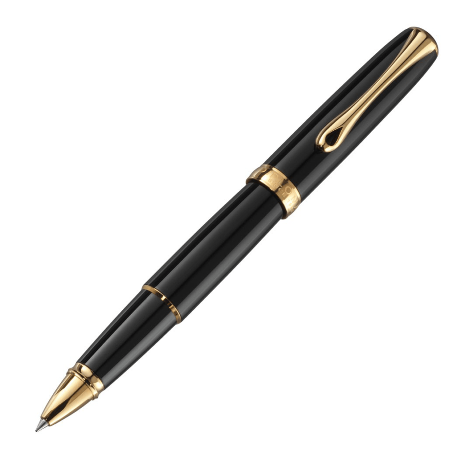 Diplomat Excellence A2 Black Lacquer Gold Rollerball Pen