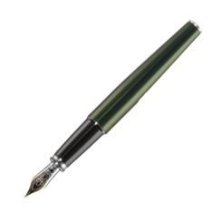 Diplomat Excellence A2 Evergreen Chrome Fountain Pen 14 ct nib