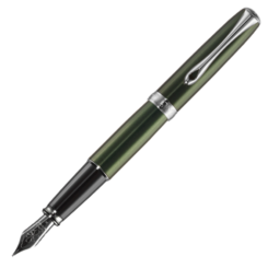 Diplomat Excellence A2 Evergreen Chrome Fountain Pen