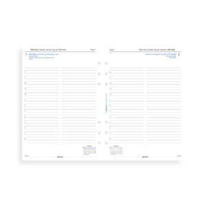 Filofax 2019 A5 One Day On A Page Business Diary Insert - Multilanguage