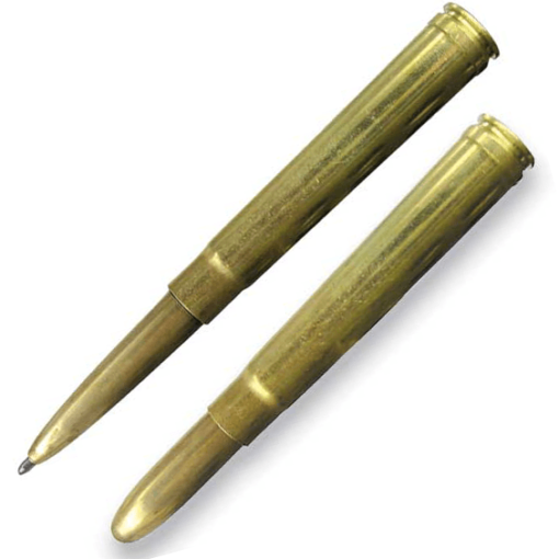 Fisher Space – Bullet Shape 375 H & H Shell Casing As Cap Pen