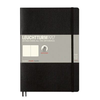 softcover blank black