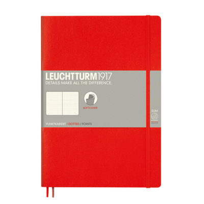 softcover blank red