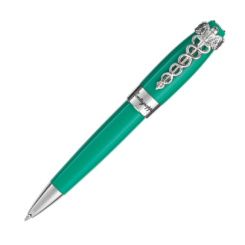 Montegrappa Caduceus Palladium & Medical Green Ballpoint Pen
