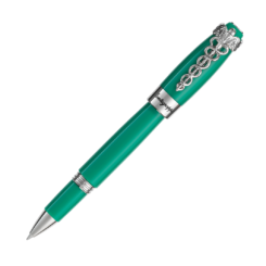 Montegrappa Caduceus Palladium & Medical Green Rollerball Pen