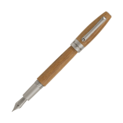 Montegrappa Heartwood Light Teak Fountain Pen With Notebook