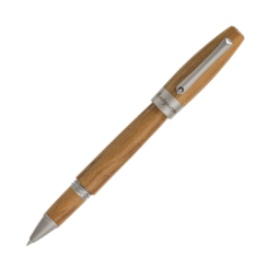 Montegrappa Heartwood Light Teak Rollerball Pen With Notebook