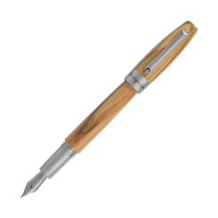 Montegrappa Heartwood Olive Fountain Pen With Notebook