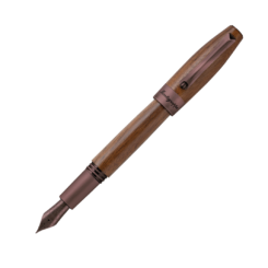 Montegrappa Heartwood Walnut Fountain Pen With Notebook