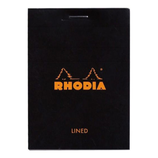 A7 Stapled Lined Rhodia Pad - Black/No.10