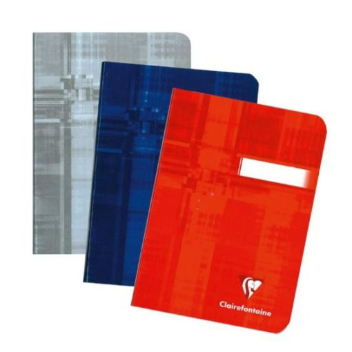 A6 Stapled Plain Clairefontaine Notebook/ASSORTED