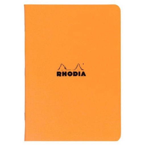 A4 Lined Orange Stapled Rhodia Notebook