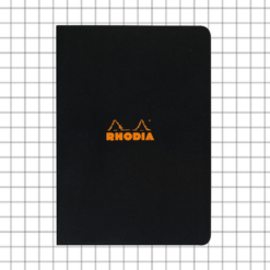 A5 5x5 Black Stapled Rhodia Notebook - 14.8 cm x 21.0 cm