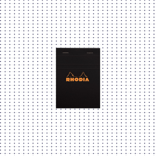 Stapled Rhodia Dot Pad - Black - No.12 - 8.5cm x 12cm