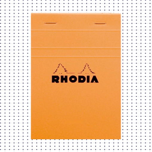 A5 Rhodia Dot Pad - Orange - No.16 - 14.8cm x 21cm