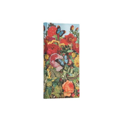 Paperblanks Butterfly Garden 2021 - Slim 12 Month Planner (Week At A Time)