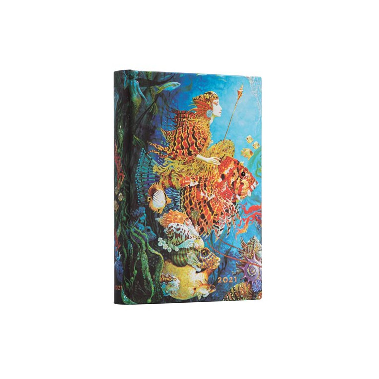 Paperblanks Sea Fantasies - Midi 12 Month Planner (Day At A Time)