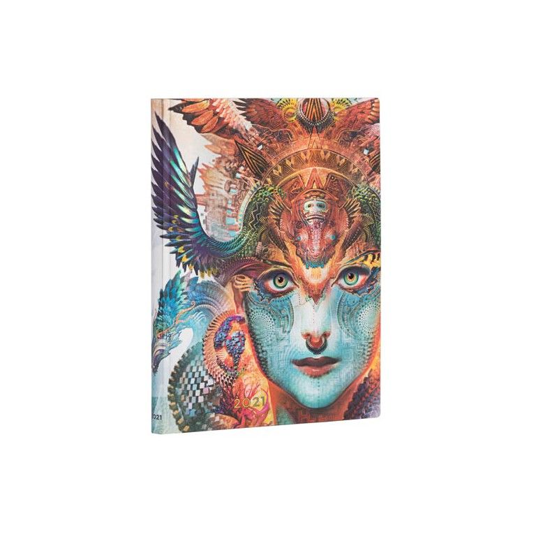 Paperblanks Dharma Dragon 2021 - Flexi Ultra 12 Month Planner (Week At A Time) Vertical