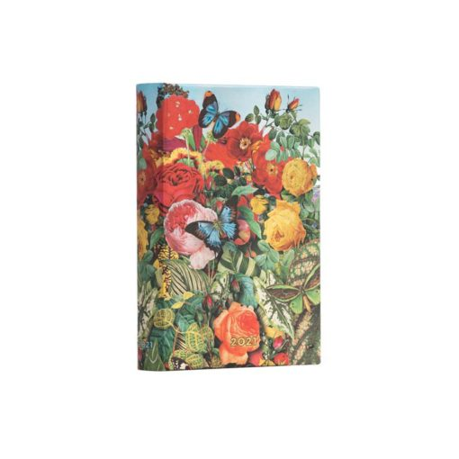 Paperblanks Butterfly Garden 2021- Mini 12 Month Planner (Day At A Time)