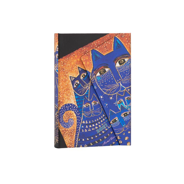 Mediterranean Cats Mini Paperblanks 12 Month Week At A Time 2021 Diary – Horizontal