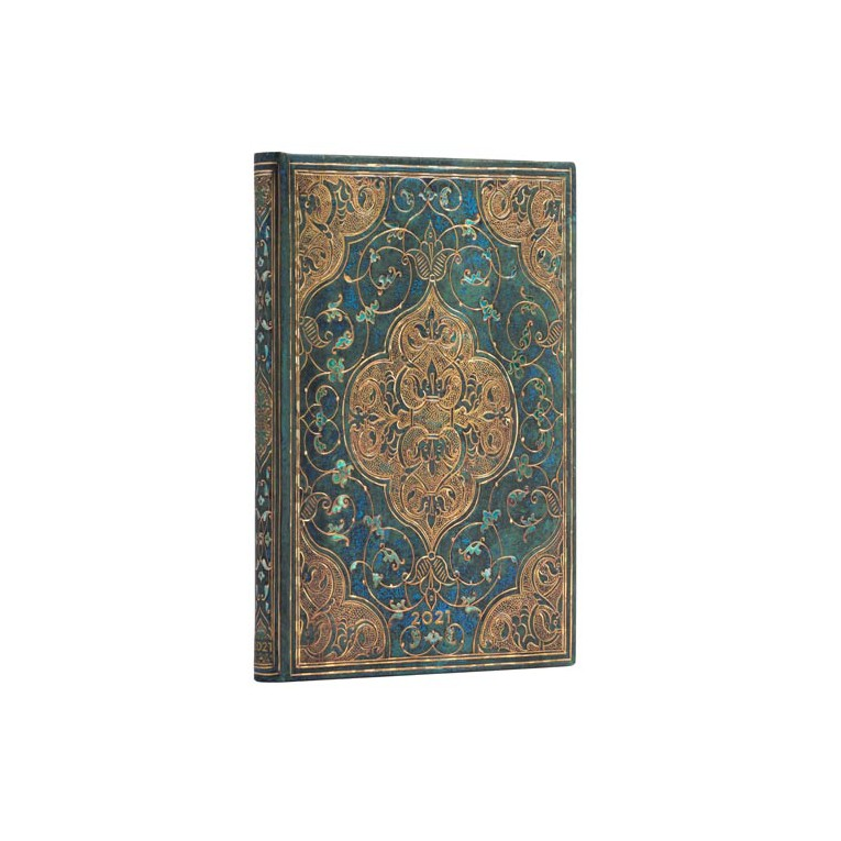 Paperblanks Turquoise Chronicles 2021 - Midi 12 Month Planner (Week At A Time) Verso