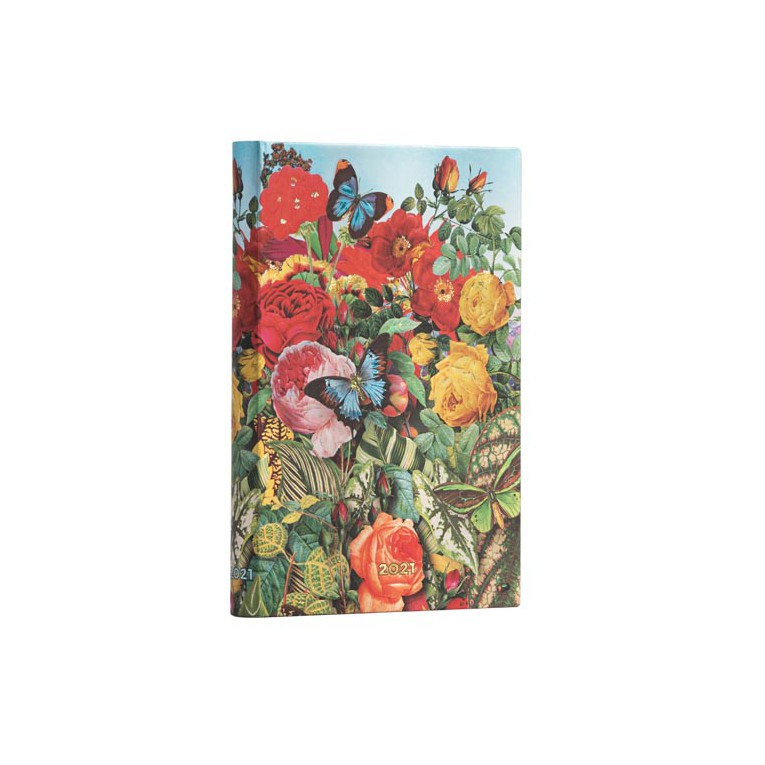 Paperblanks Butterfly Garden 2021- Mini 12 Month Planner (Week At A Time)