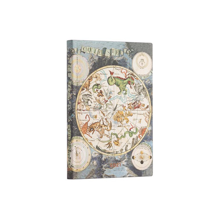 Paperblanks Celestial Planisphere 2021- Flexi Midi 12 Month Planner (Week At A Time)