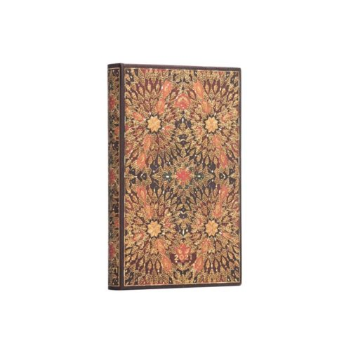 Paperblanks Fire Flowers 2021 - Mini 12 Month Planner (Week At A Time) Verso
