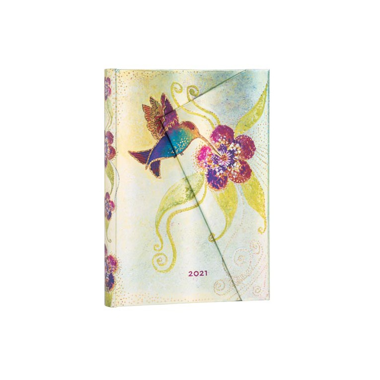 Paperblanks Humming Bird 2021 - Midi 12 Month Planner (Day At A Time)