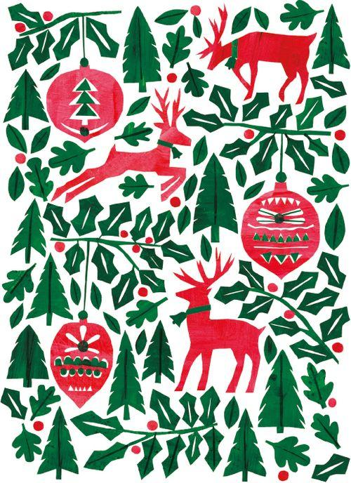 Festive Forest Christmas Card 8 Pack