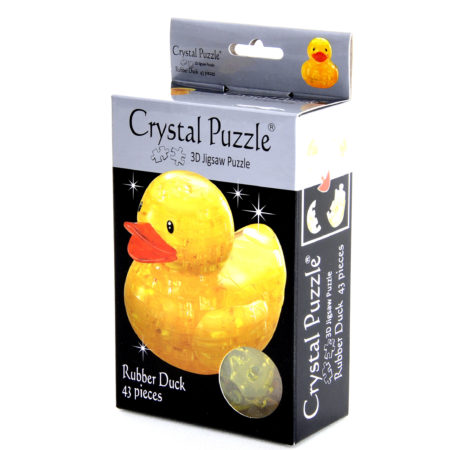 Crystal Puzzle 3D Rubber Duck Jigsaw Puzzle - 43 Pieces