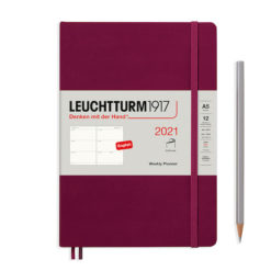 Leuchtturm1917 A5 Weekly Planner 2021 - Softcover - 4.5cm x 21cm