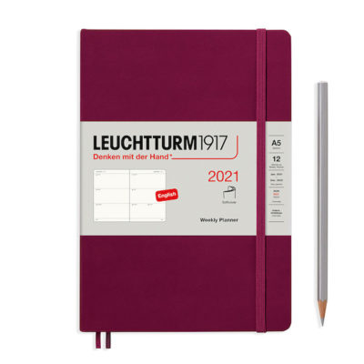 LC74390_Leuchtturm1917-Weekly-Planner-2021-Softcover-Medium-Port-Red_P1
