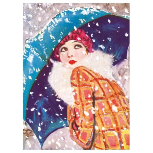 Snow Flurry Christmas Card 8 Pack
