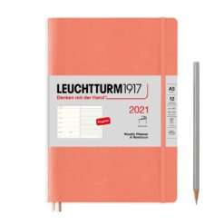 Leuchtturm A5 Weekly Planner 2021 & Notebook - Softcover - 14.5 x 21cm