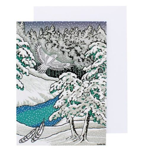 Snowy Owl Pack of 8 Christmas Cards