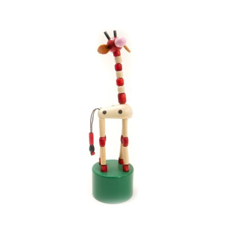 Jiggling Giraffe Thumb Push Toy