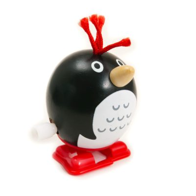 Wind Up Wooden Penguin Toy