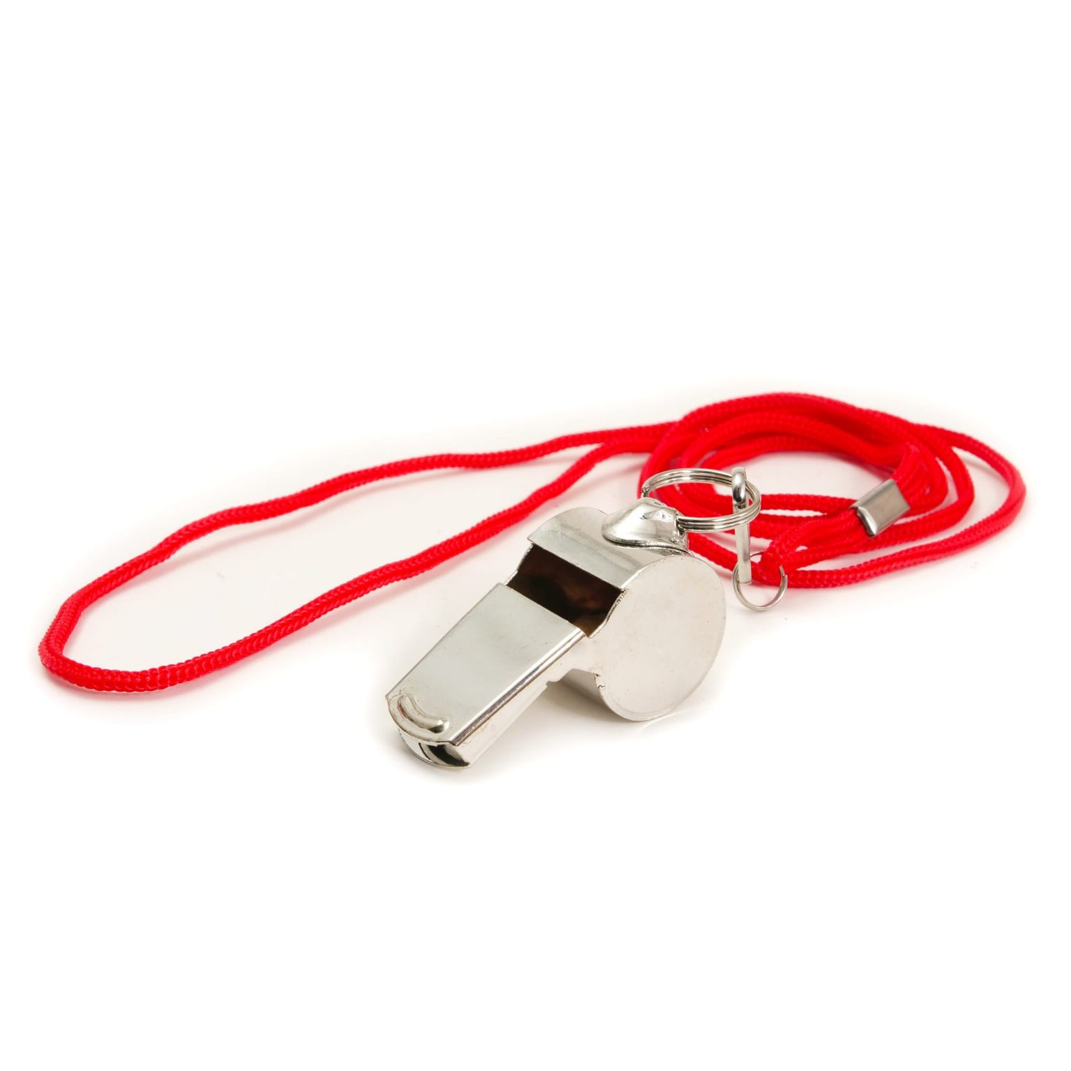 Metal Adventurer's Whistle and Lanyard