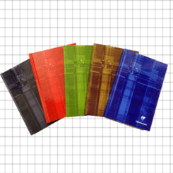 PACK OF 5 Clairefontaine A5 Stapled, Squared 5x5 Pages