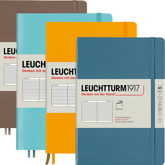Leuchtturm A5 Softcover Notebook Lined - Rising Colours Collection