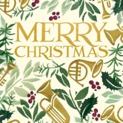 Merry Christmas Pack of 5 Christmas Cards