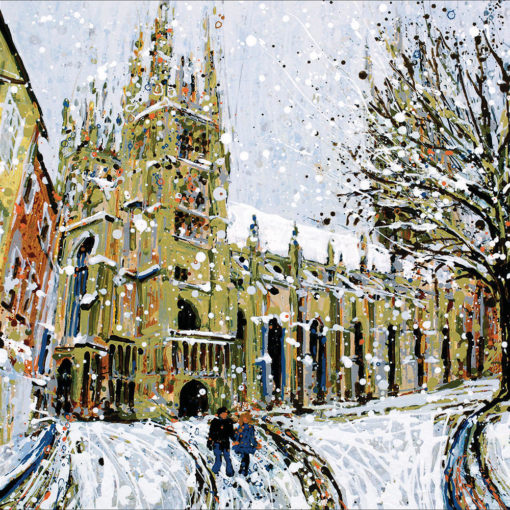 Cathedral in the Snow Pack of 5 Christmas Cards