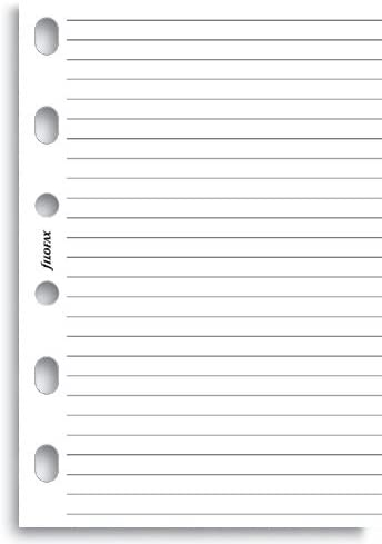 Filofax Pocket White Ruled Notepaper 12cm x 8.1cm