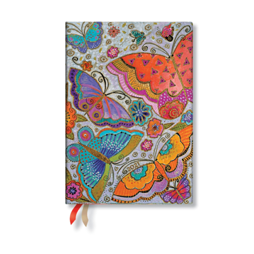 Paperblanks Flutterbyes Midi - 12 Month Planner (Week At A Time)