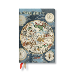 Paperblanks Celestial Planisphere Mini - 12 Month Planner (Week At A Time)