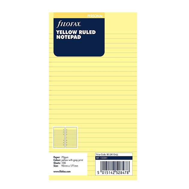 Yellow Ruled Notepad