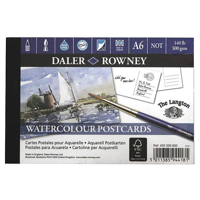 Watercolour Postcards - Daler and Rowney